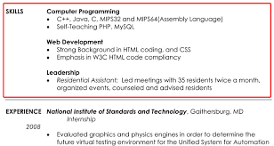 Samples Of Resumes by Skills Section Of Resume Examples Berathen Com