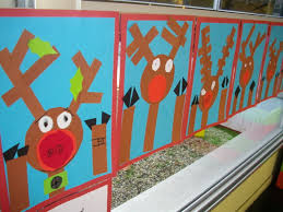 cute christmas activity rudolph the red nosed reindeer looking