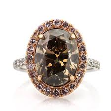 brown diamond engagement ring 6 31ct fancy orange brown oval cut diamond engagement ring