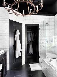 Small Black And White Tile Bathroom Black White Tile Bathroom Floor White Washbasin Match For Small