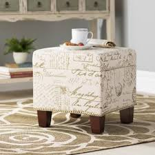 Microsuede Storage Ottoman Microfiber Ottomans Poufs You Ll Wayfair