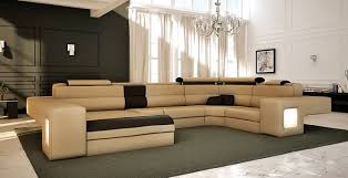 U Shaped Sectional With Chaise Download White 7100 Contemporary U Shaped Sectional Sofa With