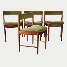 Green Velvet Dining Chairs Mid Century Modern Furniture Art Wimbledon London Gallery