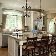 chandelier over kitchen island kitchen idea