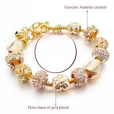 gold charm bracelet beads images Golden charms beads crystal pandora bracelet ken bracelets shop jpg