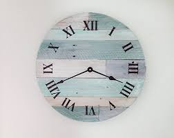 reclaimed wood wall clock pallet wood clock rustic