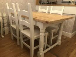 Second Hand Farmhouse Kitchen Tables - chunky farmhouse table second hand household furniture buy and