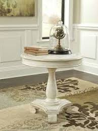 Rustic Accent Table Ashley T505 Mirimyn Rustic White Round Accent Table By Ashley