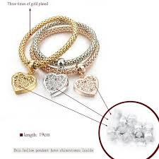 bracelets for heart charm bracelets with austrian crystals pandoras box inc