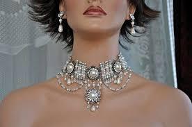 choker necklace wedding vintage images 70 best bridal choker necklace wedding chokers bridal jewelry jpg