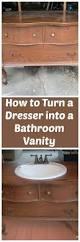 from dresser to vanity dresser vanities and diy bathroom vanity