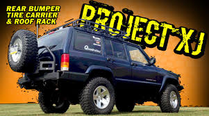 Smittybuilt Roof Rack by Project Xj Smittybilt Rear Bumper With Tire Carrier Youtube