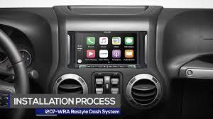 2017 jeep wrangler dashboard alpine 7 inch i207 wra restyle dash installation process
