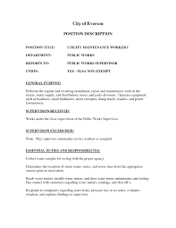 Sample Resume For Maintenance Worker by Building Maintenance Worker Resume Free Resume Example And