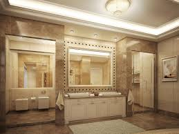 exclusive master bathroom design with cherry wood bathroom vanity