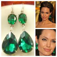 emerald green earrings inspired style teardrop