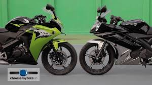 buy honda cbr 150r yamaha yzf r15 vs honda cbr 150r choosemybike in review youtube