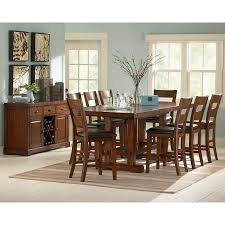 dining room counter height sets steve silver zappa 9 piece counter height dining set tobacco