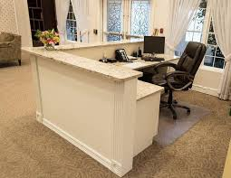 Velvet Reception Desk Receptionist Window Reception No Glass Office Decor Ideas