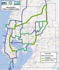 Pasco County Florida Map by Plans Develop To Interconnect Trails In Three Counties