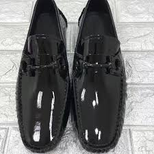 Most Comfortable Loafers 2016 High Quality Fall Mens All Black Shiny Genuine Patent Leather