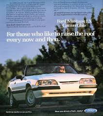 ford mustang ad oxford white 1990 ford mustang convertible mustangattitude com