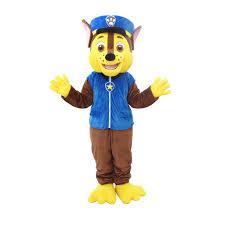 paw patrol halloween costume cosplaydiy unisex mascot costume paw patrol chase mascot costume