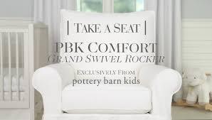 Pottery Barn Swivel Chair Comfort Grand Swivel Rocker Pottery Barn Kids Youtube