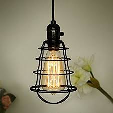Antique Pendant Light Coolwest Mini Vintage Edison Hanging Caged Pendant Light Fixture