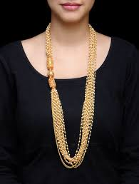 pearl string necklace images Buy golden nepali beads pearl jhaller multiple string necklace jpg