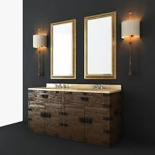 Restoration Hardware Bathroom Cabinet by Restoration Hardware Bathroom Furniture Set 3d Model Max Obj Fbx Mtl