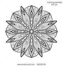simple mandala shape coloring vector mandala stock vector