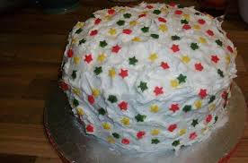 simple and neat christmas cake decorating design ideas with star
