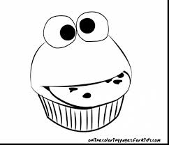 terrific cupcake coloring pages with cookie monster coloring page