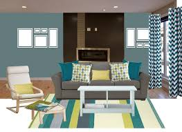 image of colored teal living room chair