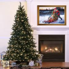 vickerman 7 5 camdon fir slim tree with 650 led frosted warm