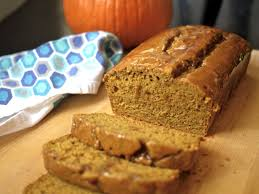 pumpkin foods pumpkin bread with caramel glaze
