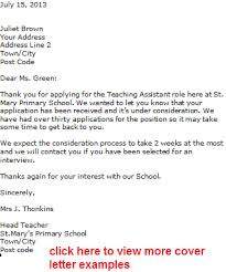 teacher assistant cover letter examples dental assistant cover