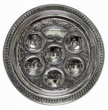 shabbat plate seder plate with grape and leaf design