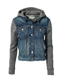 jean sweater jacket use an hooded sweat shirt and sew into a jean jacket remove