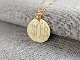 monogram necklace pendant personalized monogram necklace monogrammed pendant nanvo