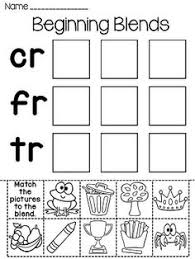 blends cut and paste worksheets so fun for beginning blends