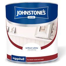 johnstone u0027s eggshell paint brilliant white 2 5l diy