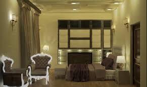 3d model bedroom interior scene with complete furniture middle