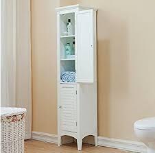 Bathroom Tower Cabinet Amazon Com Bayfield Bathroom White 2 Door Linen Tower Kitchen