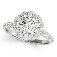 flower halo engagement ring flower halo engagement ring setting 5 8 ctw md51056