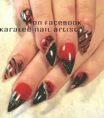 nail art i love hondas nails caviar and zebra print ombre and
