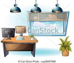 objet bureau séparé couches objet bureau illustration vecteur vecteurs