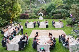 outside wedding ideas glamorous garden wedding ruffled