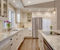 space for kitchen island kitchen island with cooktop in kitchen transitional with electric